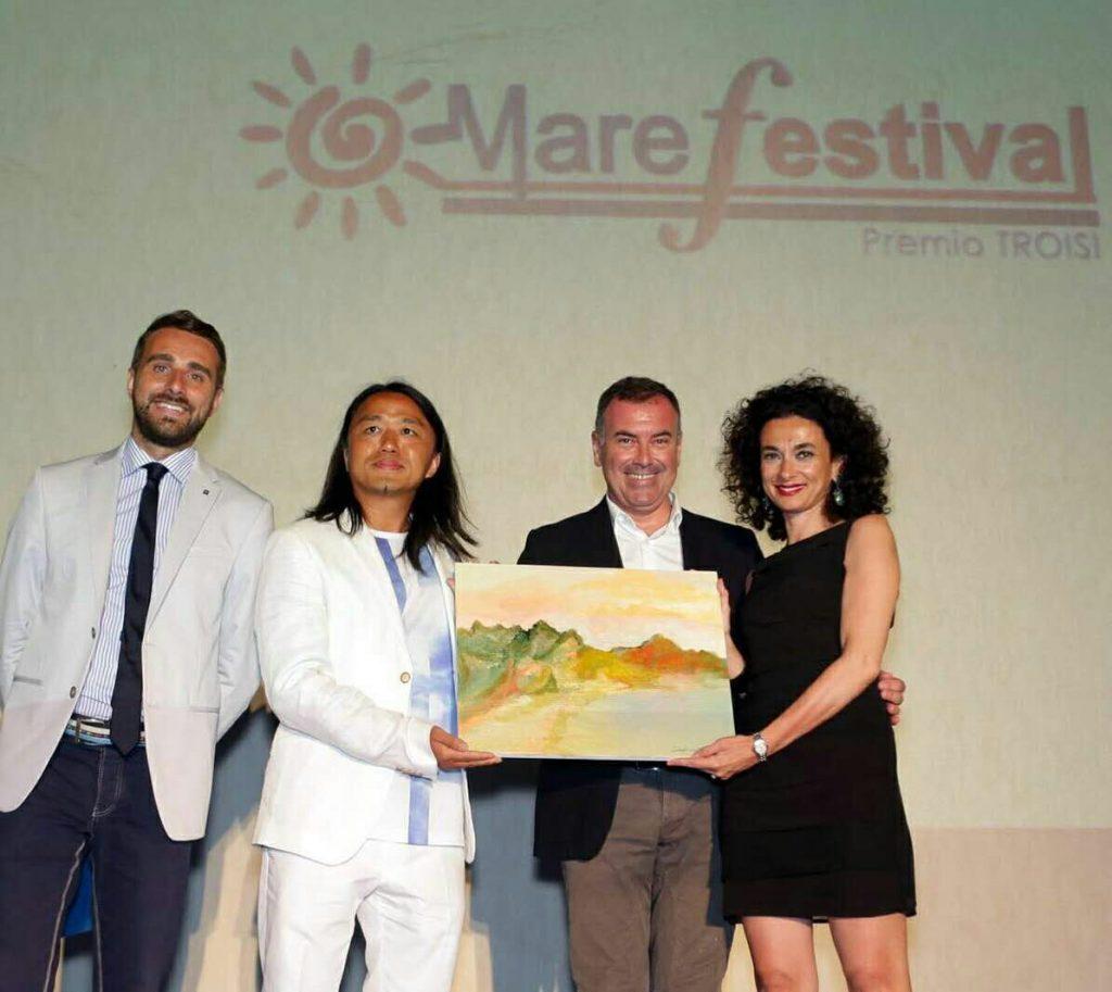 Liu Yi, Massimiliano Cavaleri, Daniela Ursino al Mare Fastival Salina