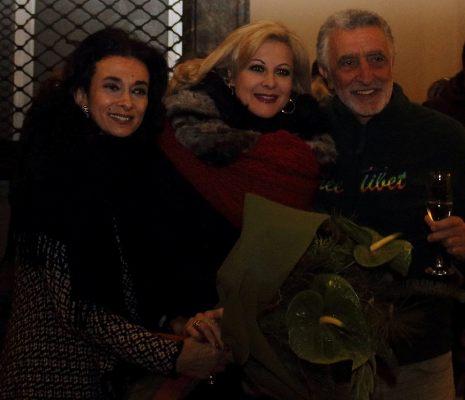 Il soprano Chiara Taigi, Assessore Daniela Ursino, Sindaco Renato Accorinti